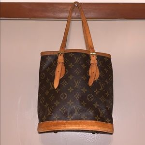 Authentic Louis Vuitton Bucket Tote Bag